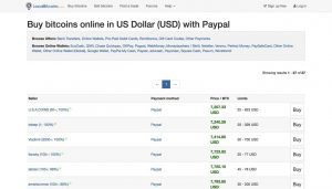 Buy Bitcoins online in US Dollar (USD) with PayPal